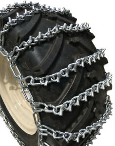 Snow Chains 22 5 X 10 00 X 8 V bar Tire Chains W spring Tensioners