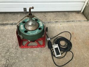 Spartan 100 Rod O Matic Snake Sewer Drain Cleaning Machine 75 Of Cable Works