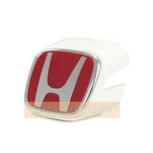 Honda Front Red Emblem White Holder 02 04 Integra Dc5 Type r Rsx Acura Genuine