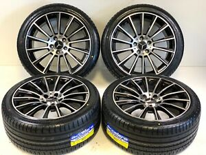 18 Wheels Rims Tires Fit Amg S63 Mercedes Benz E Class S Class Black Rims 5x112