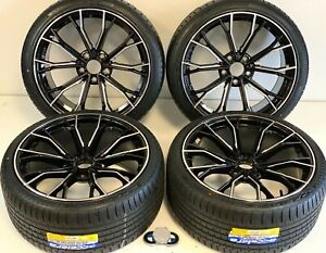 19 Inch 04 19 Wheels Rims Tires Fit Bmw 351m M5 M6 Factory Staggered F12 Brushd