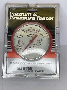 Suntune Engine Vacuum And Pressure Tester Gauge New Sealed Cp7801 Pentron
