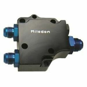 Milodon 21225 Oil Pump Cover Motor Plate Style remote Filter For Big Block Hemi