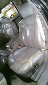 2002 Cadillac Escalade Driver Left Front Leather Seat pewter