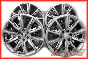 New 22 Chevy Tahoe Ltz Silverado Gmc Yukon Sierra Silver Chrome Wheels 20 8977