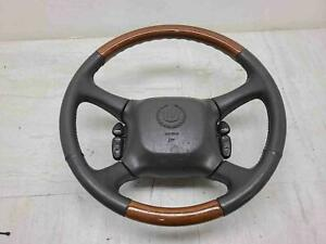 2002 Cadillac Escalade Tahoe Suburban Wood Leather Steering Wheel Assembly