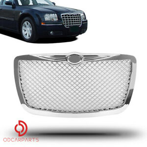 Fits 2005 2010 Chrysler 300 300c Front Hood Grill Grille Chrome Abs Mesh