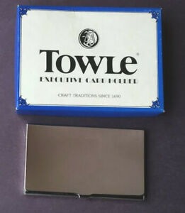 Vintage Nos Silver Plated Towle Executive Card Holder W Box