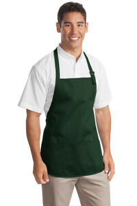 A510 Port Authority Medium length Apron With Pouch Pockets