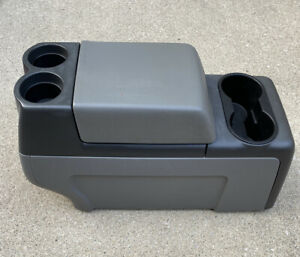 2004 2008 Ford F150 F 150 Floor Center Console W Cup Holder Grey gray