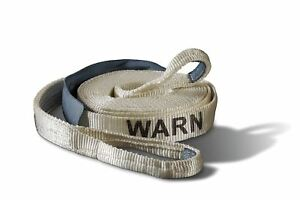 Jeep Warn 88922 Recovery Pull Strap 2 X30 14k Lbs With 18 Nylon Sliding Sleeve