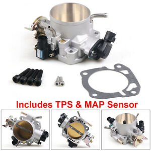 For Honda Civic Si Acura B d f h B16 B18 70mm Throttle Body W Tps Map Sensor