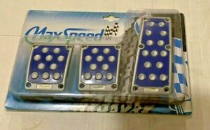 Universal Pedal Cover Silver blue Manual 3pcs set