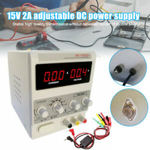 15v 2a Dc Power Supply Adjustable Dual Digital Variable Precision Lab Test Kit