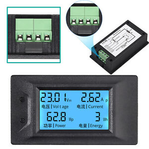 Lcd Digital Volt Meter Dc6 5 100v 0 100a Current Ammeter Voltage Amp Power Meter