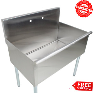 36 X 21 X 14 Freestanding Utility Stainless Steel 16 gauge Commercial Sink Bowl