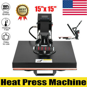 Heat Press Machine 15 x15 Digital Sublimation Transfer For T Shirt Clamshell