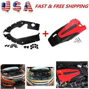 Auto Engine Cover Leaf Plate Cover Abs For 2016 2020 10th Gen Honda Civic Accord