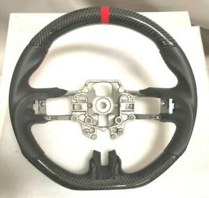 Performance Leather carbon Fiber Steering Wheel For 2015 17 Ford Mustang Gt New