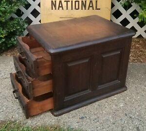 1890 S Antique Table Top Banking Mercantile File Cabinet