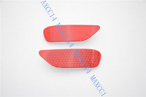 Pair Rear Bumper Reflector Light Red Lamp Lens For Chevrolet Captiva 2012 2015