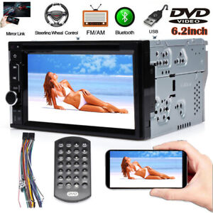 Fits Nissan Altima Double 2 Din 6 2 Car Radio Dvd Stereo Touchscreen Bluetooth