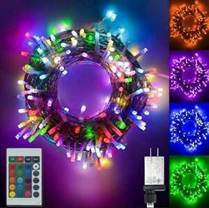 Color Changing led Christmas Lights 200 LED 66ft Plug in Powered Multicolor Chr