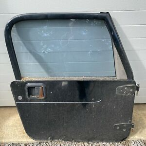 1997 06 Jeep Wrangler Tj Rh Passengers Full Door Manual Complete Black Oem 52466