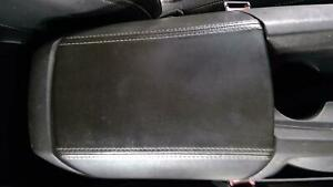 2010 2015 Chevy Camaro Center Console Lid black Leather white Stitched