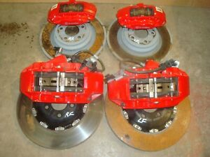 2015 20 Charger Challenger Hellcat Srt Front Rear Rotors Calipers 6 Piston Br7