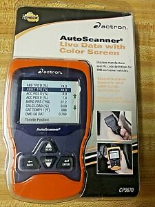 Actron Cp9670 Autoscanner Obd Ii Abs Diagnostic Engine Scan Tool Color Screen