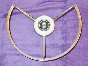 1958 Ford Fairlane And 500 Orig Steering Wheel Horn Ring W O Power Steering