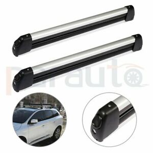 Top Roof Rack For Mount Fishing Rod 4 Ski2 Snowboard Carrier Holder W Key Silver