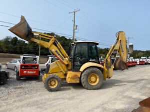 2006 Komatsu Wb140 4x4 Tractor Loader Backhoe W Cab Ext a hoe Only 1100 Hours