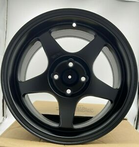 Spoon Style Wheels 16x7 For Civic Integra 4x100 black