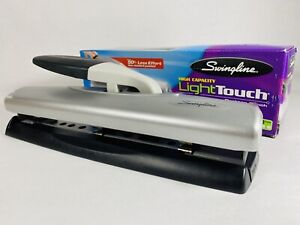 Swingline Hole Punch 20 Sheet High Capacity Light Touch Desktop 3 Hole New