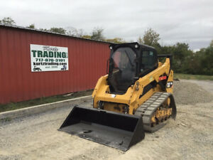2014 Caterpillar 259d Compact Track Skid Steer Loader W Cab 2spd 1900hrs Clean