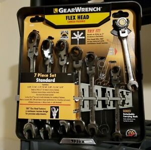 Gearwrench 7 Ratcheting Flex Head Wrench Set 3 8 7 16 1 2 9 16 5 8 11 16 3 4