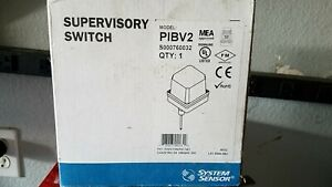 System Sensor Pibv2 Supervisory Post Indicator Valve piv Fire Alarm Switch