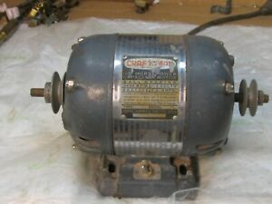 Vintage Craftsman Double Pulley Motor 115 Volts 1 2 Hp 3450 Rpm