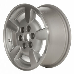 02132 Used 15x7 Alloy Wheel Rim Sparkle Silver Painted And Machined