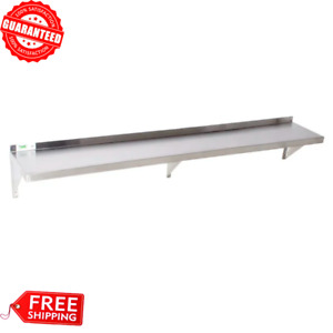 12 X 84 Commercial Stainless Steel Wall Shelf 340 Lbs Capacity 18 Gauge Nsf