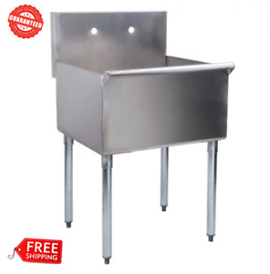 Stainless Steel Commercial Utility Sink Prep Hand Wash Tub 16 Gauge 24 x24 x14