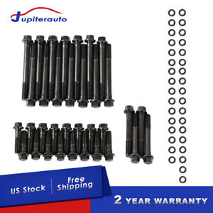 Cylinder Head Bolts Kit For Chevrolet Sbc 350 383 400 Sbc Engines W Cast Iron