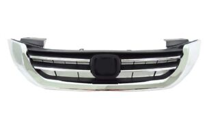 Hood Abs Grill Fit 2013 2015 Honda Accord Factory Style Front Upper Grille