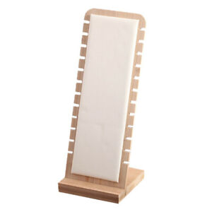 Jewelry Display Stand Necklace Earring Rings Organizer White Leather