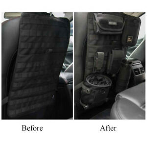 Car Seat Back Organizer Tactical Molle Pouch Panel Vehicle Cover Storage Bag New