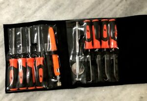 New Snap on Tools 10 Piece Hard Handle Orange Mini Screwdriver Pick Set