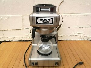 Vintage Retro Bunn o matic Ot15 Stainless Commercial Coffee Brewer W 2 Burners