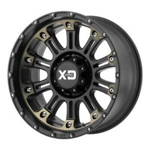 4 New 20x12 Xd Hoss 2 Satin Black Machined W Dark Tint Wheel rim 8x180 Et 44